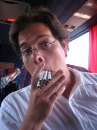 smoking on bus